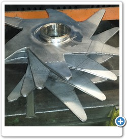 Custom Stainless Steel Mixer Blade Assembly for Batch Mixer.