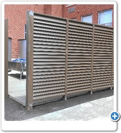 Heavy Duty Architectural Louver Panels for Screening Views of Equipment.