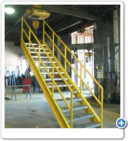 Interior and Exterior Stairs and Railings for Installation by Your Company or Billings.