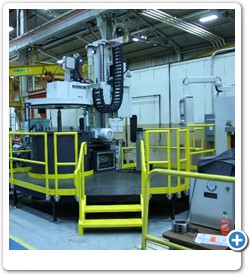 Machine Work Platform and Safety Barrier.  Billings can also assist in moving and installation of equipment.