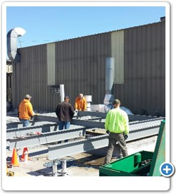 Structural Platforms for Equipment.  This is a multi-unit roof top cooling equipment installation.