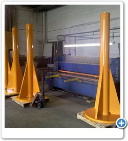 Support Pedestals for Equipment, Jib Cranes and Platforms.